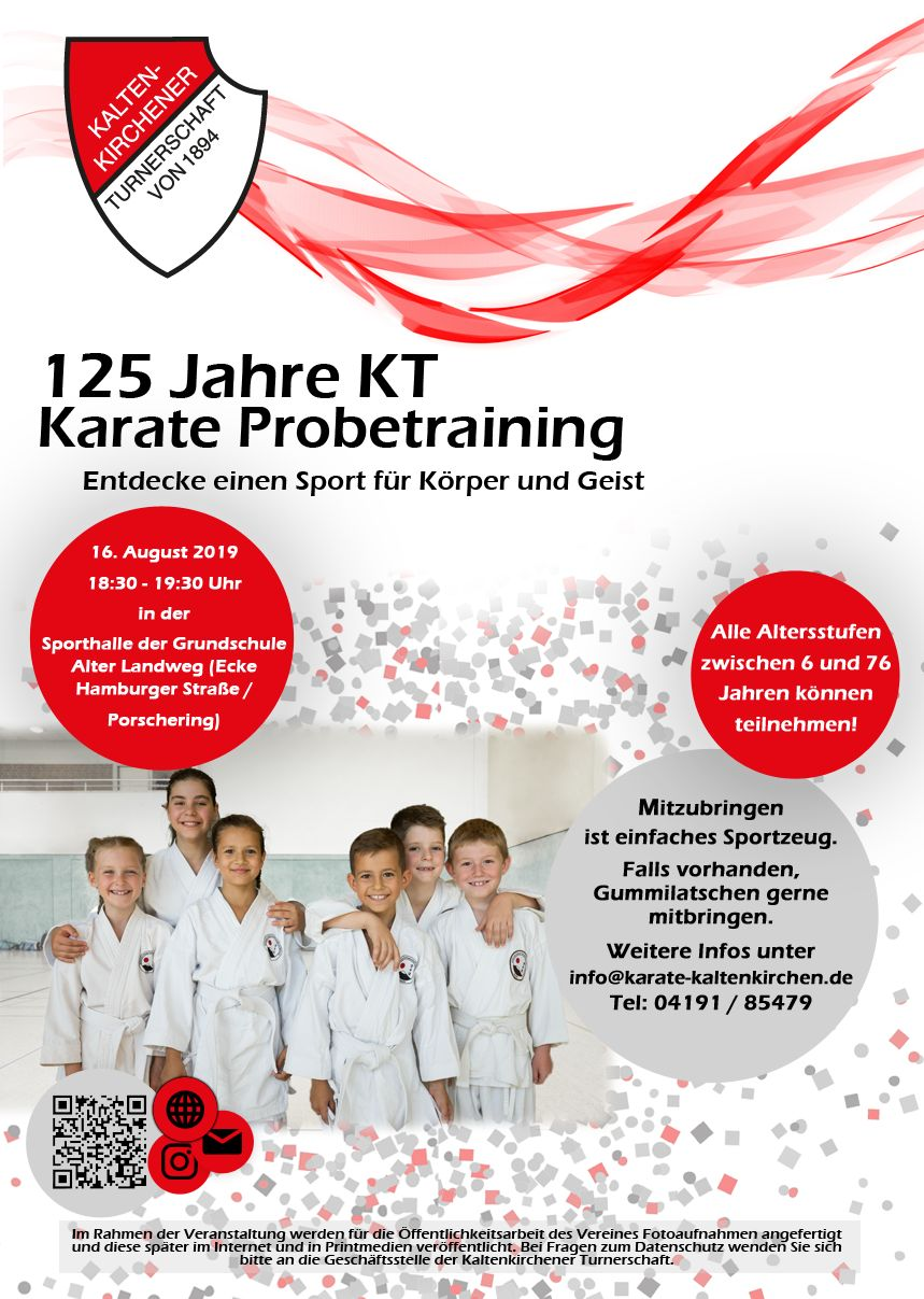 Probetraining Karate am 16.08.2019